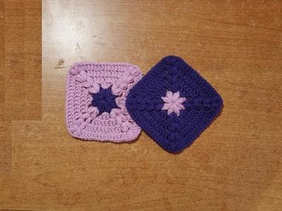 How to crochet Granny square easy - tutorial crochet