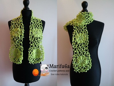 How to crochet irish style rose scarf free tutorial pattern by marifu6a
