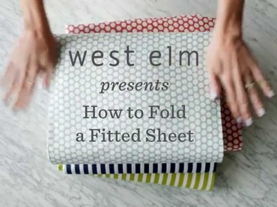 How To Fold A Fitted Sheet The Easy Way | west elm