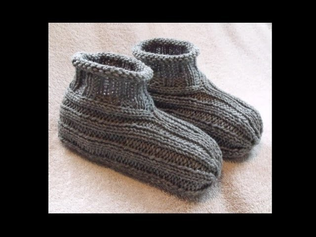 How to Knit Bootie Slippers - FREE Knitting Pattern!