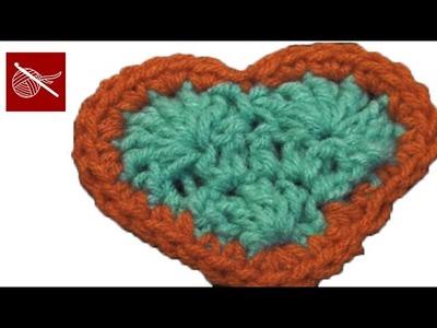 How to make a crochet heart Tutorial