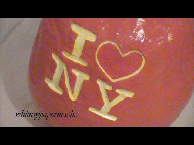 How to Make a Delicious Paper Mache Big Apple