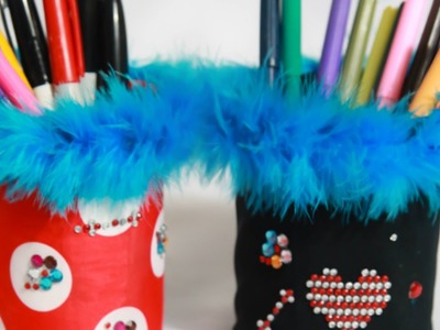 How To Make a Fancy Tin Can Pencil Holder - DIY Home Tutorial - Guidecentral