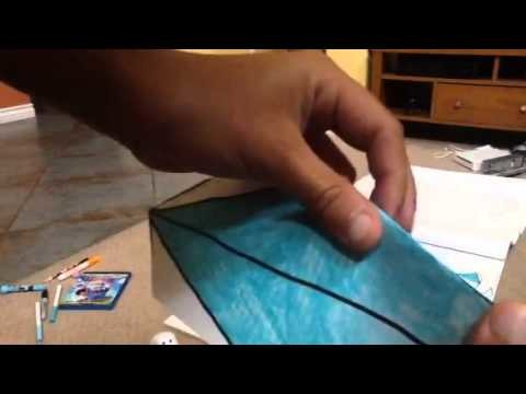 How to make a paper craft arwing part 1