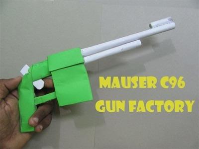 How to make a paper gun that shoots (Mauser C96) - Easy Tutorials
