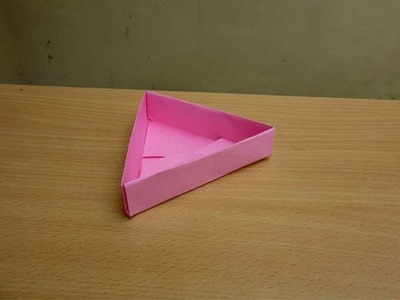 How to Make a Paper Triangle Box - Easy Tutorials