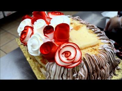 How to make flower cake - Cake making tutorial