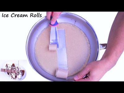 How to make ICE CREAM ROLLS - KINDER Chocolate Bar | DIY Tutorial & Recipe
