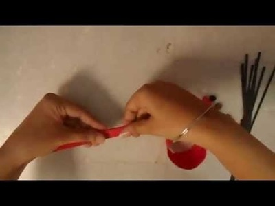 How to make paper flower - beautiful red sunflower tutorial