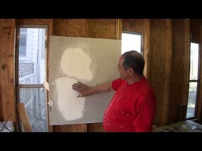 How To Repair Small Holes in Damaged Drywall Sheetrock #3