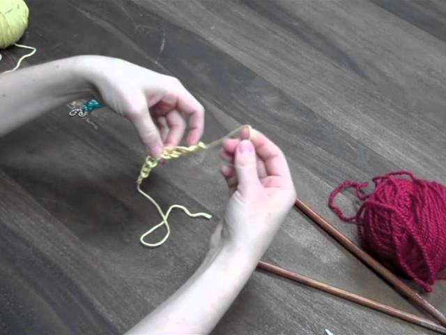 Knitting Provisional Cast On: Crochet Method