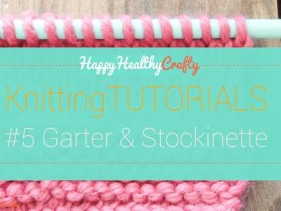Knitting tutorial #5 Garter and Stockinette for beginners