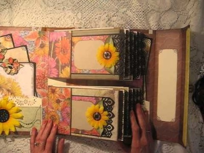 Large not-so-mini DOUBLE PAPER BAG scrapbook album