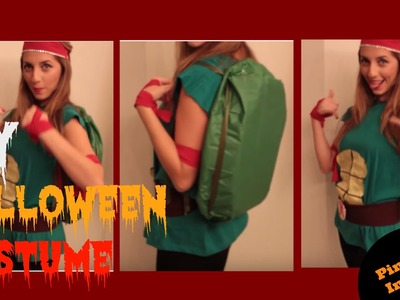 Last Minute DIY Halloween Costume for Women - Cute Ninja Turtle