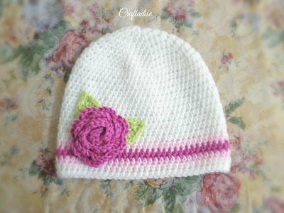 Made in Craftadise - Crochet Floral Baby Set - Hat Making Process