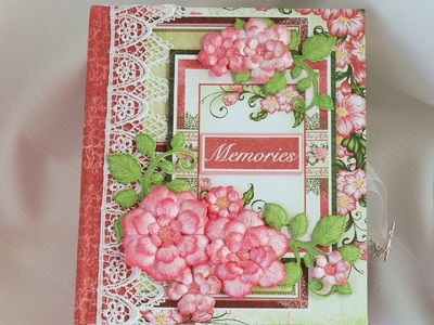 """Memories""  Scrapbook photo Mini Album, Handmade by Terry"