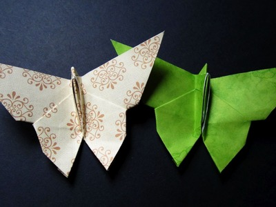 Origami butterfly instructions - learn how to make a paper butterfly in 5 minutes - EzyCraft