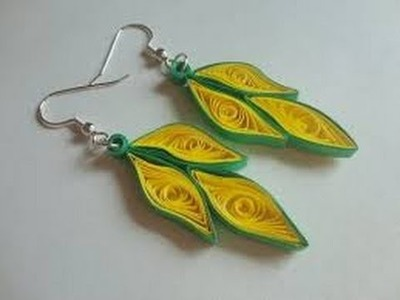 how to make paper quilling earrings at home