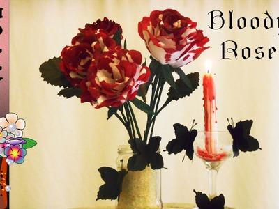 Paper Flower Tutorial For Halloween Decoration