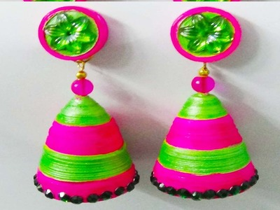 Paper quilling :How to make beautiful Earrings