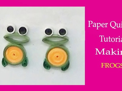 Paper quilling - Making Frogs