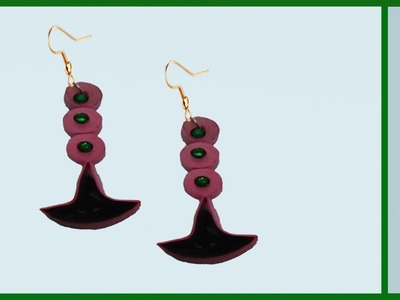 Paper quilling : Making Latest Earrings