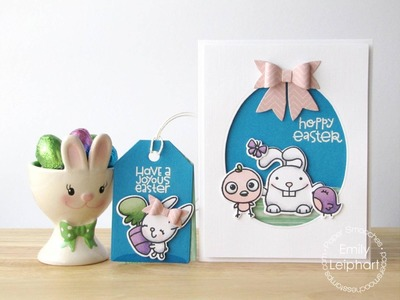 {Paper Smooches} Easter Card with the Easter Egg Die and Large Bow Die