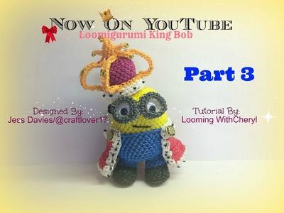 Rainbow Loom King Bob Minion - Part 3 of 4 - Loomigurumi - Looming WithCheryl