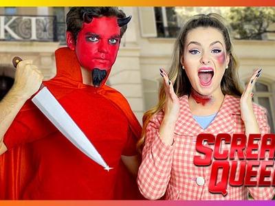 Scream Queens DIY Halloween Costumes! | Dead Sorority Girl & Red Devil!