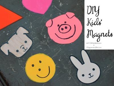 Simple DIY Kids' Magnet Craft using Magnet Paper from OnlineLabels.com #sponsored #OnlineLabelsHOA