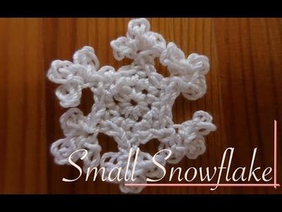 Small Crochet Snowflake - Video Tutorial left-handed