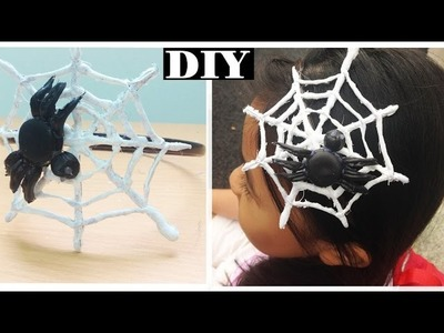 SPIDER WEB HEADBAND (Hot Glue)   DIY Halloween   EASY