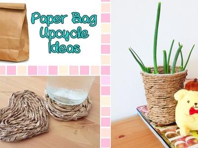 2 Room Decor DIYs Using Paper Bag - Upcycle DIY | Sunny DIY