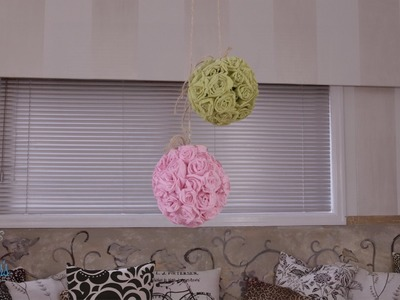 Arts & Crafts Tutorial: Paper Rose Hanging Ball