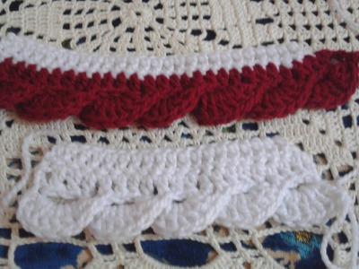 Border crochet Knitting Crochet border fringe