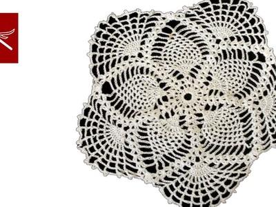 Crochet Lace Pineapple Doily Part 9 Tutorial