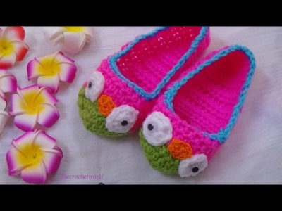 CROCHET OWL SLIPPER-1