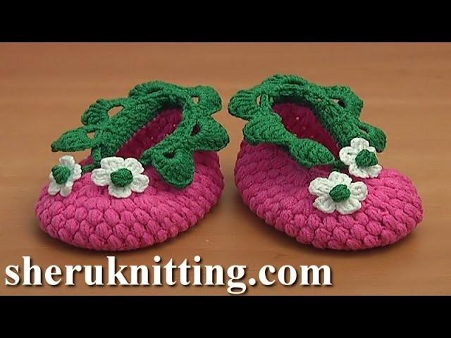 Crochet Raspberry Baby Booties Tutorial 83 Part 1 of 2