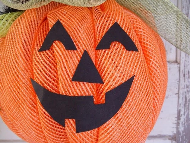 Deco Mesh Pumpkin Tutorial by Trendy Tree