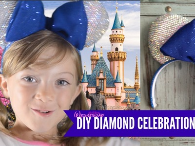 DIY 60th Diamond Celebration Mickey Ears and 4K giveaway!