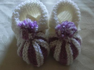 DIY Baby Schuhe Balerinas Stricken Knitting*Tutorial Handarbeit