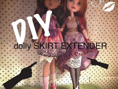 DIY Barbie doll Fashion lace skirt extender or swimsuit cover up