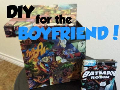 DIY Comic Book Gift Box for the boyfriend