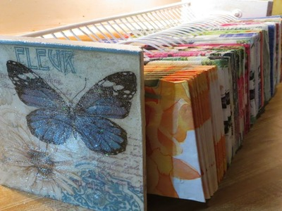 DIY Decoupage a CD DVD organizer to Paper organizer