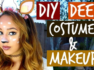 DIY DEER COSTUME & MAKEUP (Halloween) - HowToByJordan