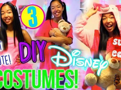DIY DISNEY COSTUMES FOR HALLOWEEN!⎟3 EASY LAST MINUTE HALLOWEEN COSTUMES!