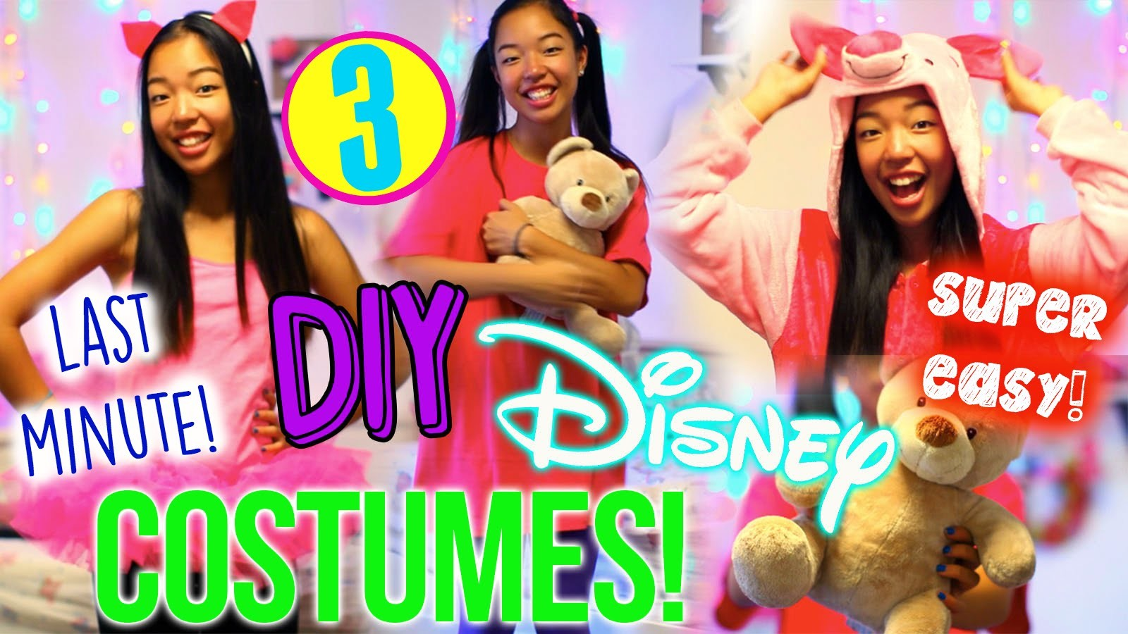 diy disney costumes for halloween!⎟3 easy last minute halloween