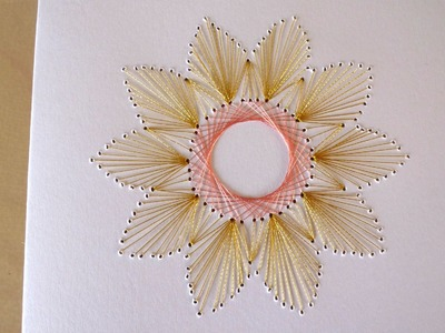 DIY Easy Flower Embroidery Card