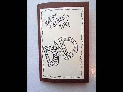 DIY FATHER'S DAY CARD, Nuts about you, last minute card