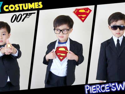 DIY last minute HALLOWEEN costumes - James Bond, Superman, MIB